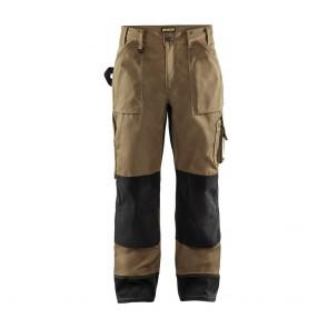 Pantalon de travail bicolore Blaklader Artisan Beige / noir