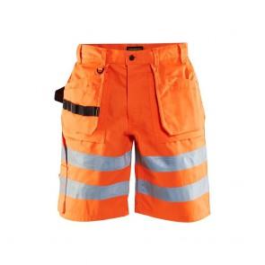 Short de travail haute visibilité polycoton satiné Blaklader Orange