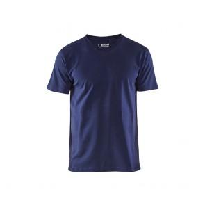 T-shirt Col V Homme Blaklader marine