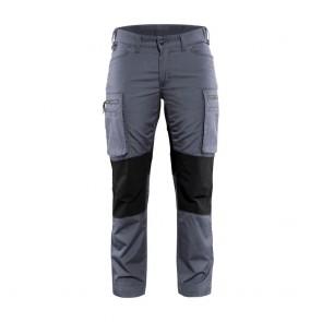 Pantalon services stretch femme Blaklader polycoton Gris / noir avant