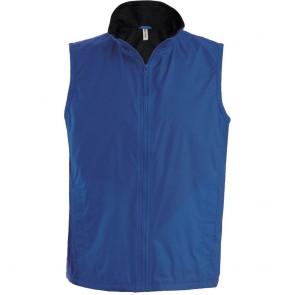 Bodywarmer doublé polaire Kariban bleu royal noir