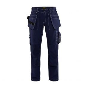 Pantalon de travail artisan femme Blaklader 100% coton Noir avant