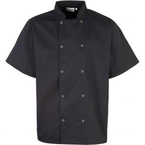 Veste de cuisinier Studded manches courtes noir