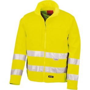 Softshell de travail haute visibilité Result - jaune fluo