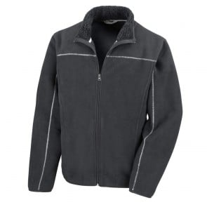 Veste polaire épaisse 400 gm² Result Huggy Jacket noir