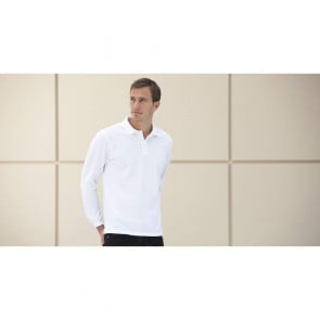 Polo de travail 100% coton manches longues Russell