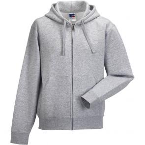 Sweat-shirt de travail à capuche zippé Russell - gris clair