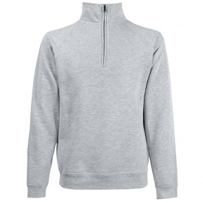 Sweat-shirt col zippé Fruit Of The Loom Classic gris