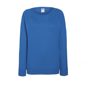 Sweat-shirt léger manches raglan femme Fruit Of The Loom Lightweight bleu royal