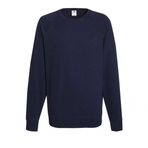 Sweat-shirt léger manches raglan Fruit Of The Loom Lightweight marine
