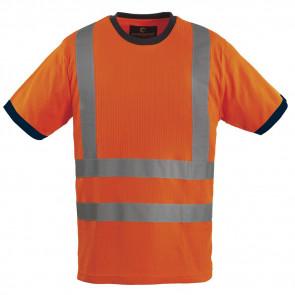 T-shirt haute visibilité Coverguard Yard Col rond orange