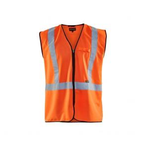 Gilet zippé haute visbilité Blaklader Orange face