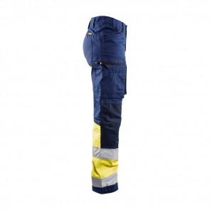 Pantalon de travail haute visibilité multipoches femme Blaklader Stretch