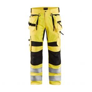 Pantalon de travail haute visibilité stretch Blaklader Jaune / Noir avant