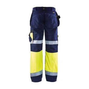 Pantalon de travail X1500 haute visibilité artisan Blaklader Classe 1