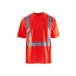 T-shirt haute visibilité anti-UV et odeur Blaklader rouge