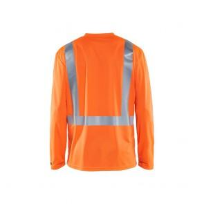 T-shirt manches longues haute visibilité Blaklader anti-UV et odeur Classe 2