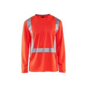 T-shirt manches longues haute visibilité anti-UV et odeur Blaklader rouge
