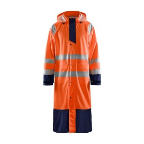 Veste de pluie Haute Visibilité Homme Blaklader orange marine