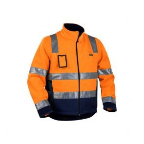 Veste polaire Haute Visibilité Homme Blakalder orange marine