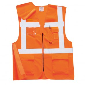 Gilet haute hausibilité executive Portwest Rail RIS