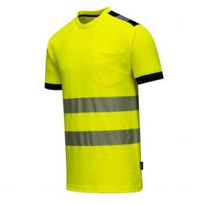 T-Shirt haute visibilité Portwest Vision Jaune côté