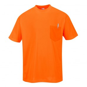 Tee Shirt manches courtes à poche Portwest Day-Vis