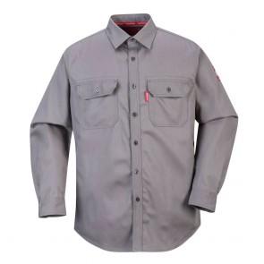 Chemise de travail Portwest Bizflame gris
