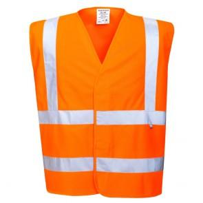 Gilet haute visibilité antistatique et retardateur de flamme Portwest Bizflame Orange
