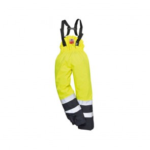 Pantalon à bavette multi-risques Portwest Bizflame jaune