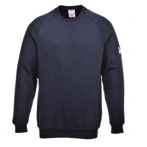 Sweat Shirt manches longues Retardateur de flammes et Antistatique Portwest - Marine