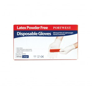 Gants à usage unique Latex Non Poudrés Portwest (lot de 100)