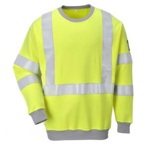 Sweat-shirt de travail Haute visibilité antistatique Portwest Modaflame Jaune