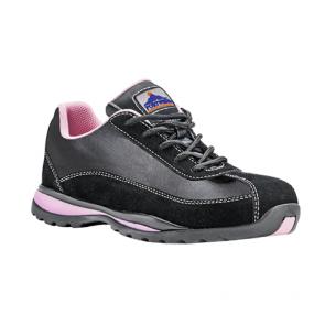 Baskets de sécurité femme Portwest S1P Trainer HRO Noir rose