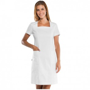 Blouse blanche médicale femme Isacco Abitino Stretch