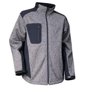 Blouson softshell zippé vanisé LMA Liège gris noir