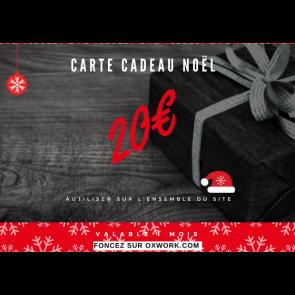 Carte cadeau Noël 20€