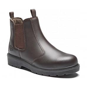 Chaussures de travail montantes Dickies Boots Dealer S1P SRA marron