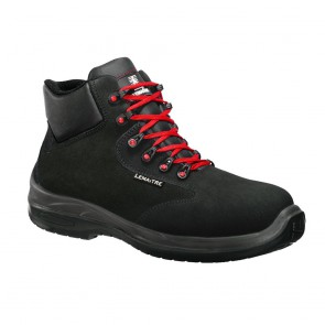 Chaussures de sécurité montantes Lemaitre Raintex S3 CI SRC Noir et Rouge