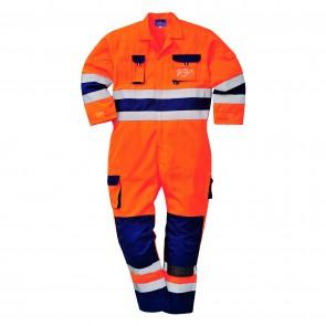 Combinaison haute-visibilité Nantes Portwest orange marine