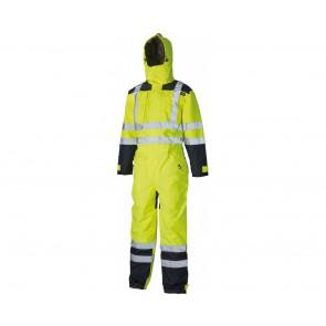 Combinaison imperméable de sécurité Dickies haute-visibilité jaune/marine