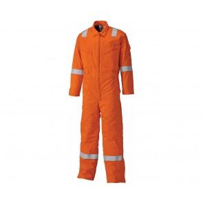 Combinaison de travail ignifugée doublée Dickies pyrovatex orange