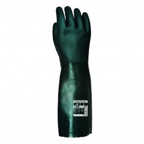 Gants PVC 45cm double trempage vert Taille 10/XL Portwest