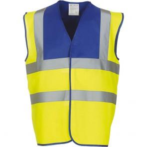 Gilet haute visibilité YOKO bleu royal jaune