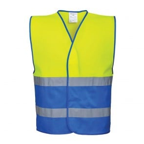 Gilet sécurité haute visibilité bicolore Portwest Jaune/Bleu royal