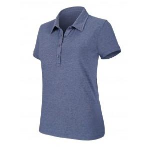Polo de travail femme manches courtes Kariban mélange Bleu foncé