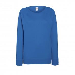 Sweat-shirt léger manches raglan femme Fruit Of The Loom Lightweight bleu royal