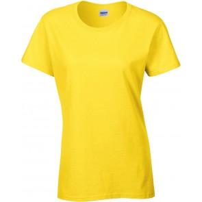 T-shirt femme Gildan Heavy cotton jaune