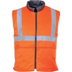 Gilet haute visibilité froid réversible Portwest RIS Orange