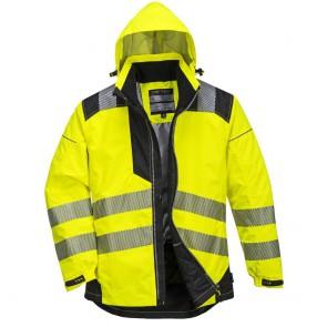 Veste de pluie haute visibilité Portwest Vision Jaune/noir face